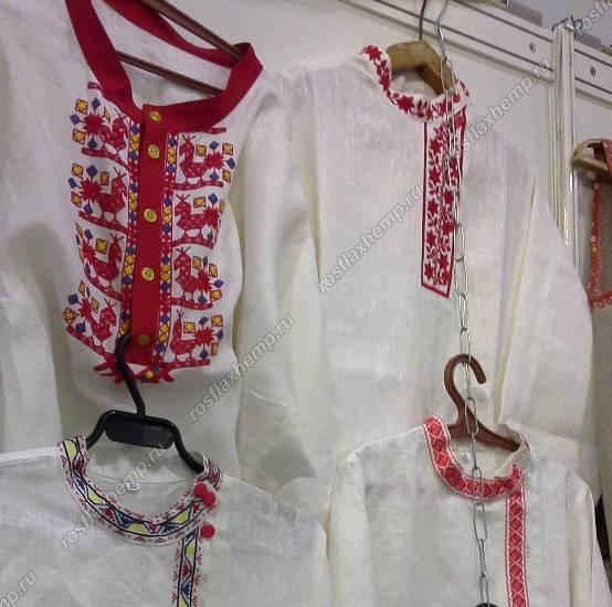 Изделия из льна с вышивкой