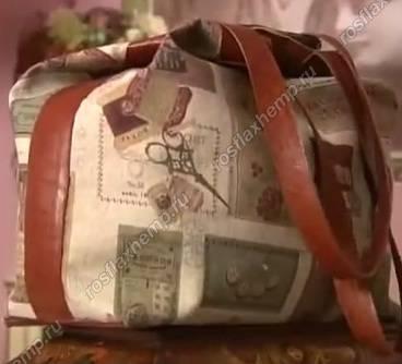 7d356120 Ольга Никишечева. Шьем льняную сумку